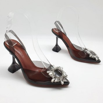 Туфли-босоножки Amina Muaddi коричневые