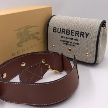 Сумка через плечо Burberry Hackberry с принтом Note Horseferry