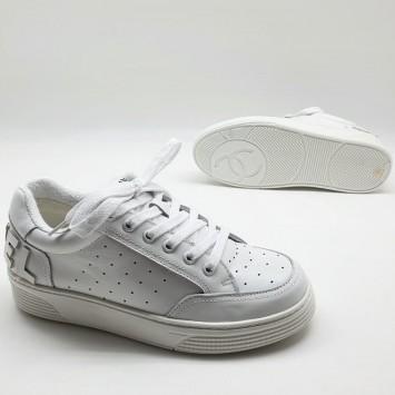 Кроссовки женские Chanel белые