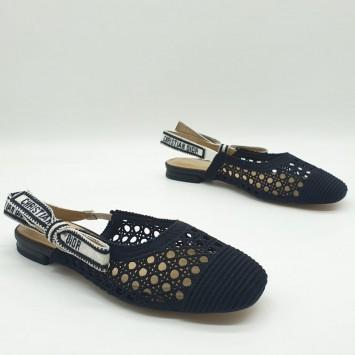 Балетки Dior & Moi черные