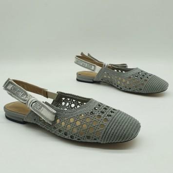 Балетки Dior & Moi серые