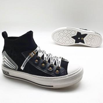 Сникеры Walk'n'Dior с узором Cannage черные