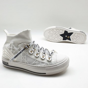 Сникеры Walk'n'Dior с узором Cannage белые