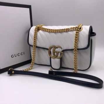 Сумка Gucci Marmont белая