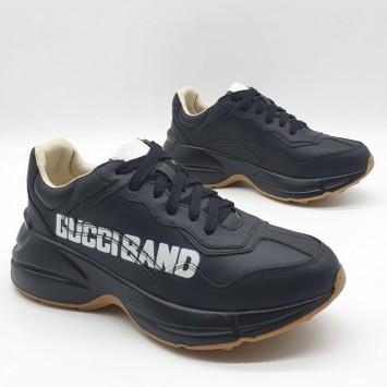 Кроссовки Gucci на толстой подошве черные