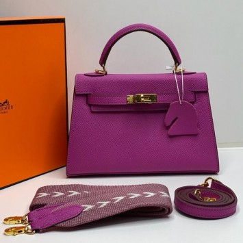 Мини-сумочка Hermes Kelly розовая