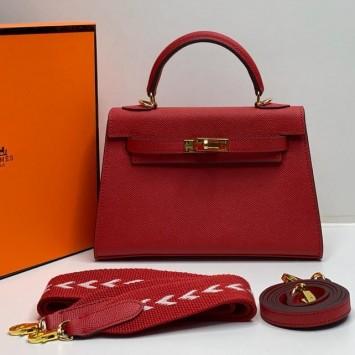 Мини-сумочка Hermes Kelly красная