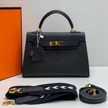 Мини-сумочка Hermes Kelly черная