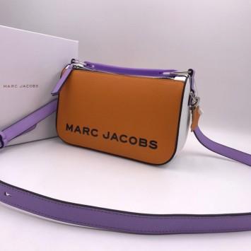 Сумка The Box 23 Marc Jacobs оранжевая с сиреневым ремнем