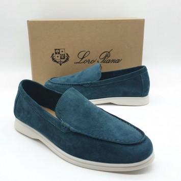 Лоферы Loro Piana Summer Walk синие