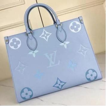 Сумка Onthego Louis Vuitton голубая