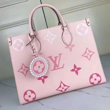 Сумка Onthego Louis Vuitton розовая