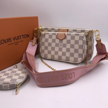 Сумка Multi Pochette Louis Vuitton розовая