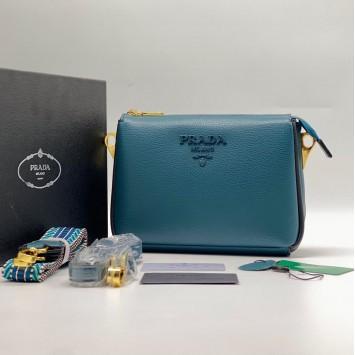 Сумка-клатч Prada синяя