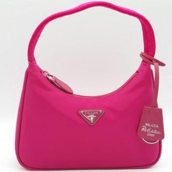 Мини-сумка Re-Edition 2000 из Re-Nylon розовая