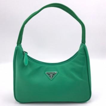 Мини-сумка Re-Edition 2000 из Re-Nylon зеленая