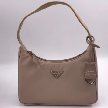 Мини-сумка Re-Edition 2000 из Re-Nylon бежевая
