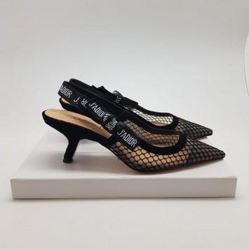 Босоножки Dior J'ADIOR на каблуке с сеточкой