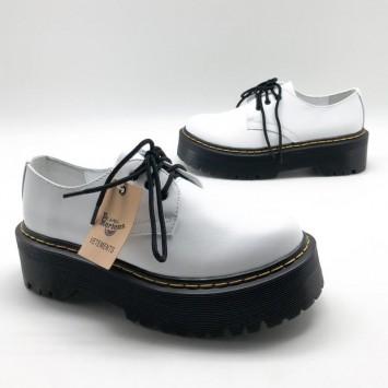 Кожаные лоферы Dr.Martens  со шнурками