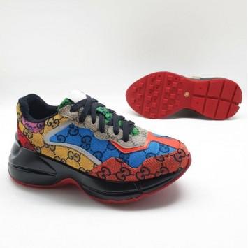 Женские кроссовки Gucci Rhyton GG Multicolor