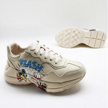 Кожаные кроссовки Rhyton Disney x Gucci