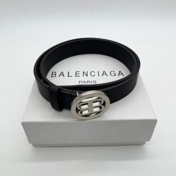 Ремень Balenciaga с круглой бляшкой логотипом