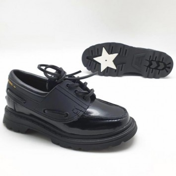 Лоферы черные со шнурками  DIOR WALKER