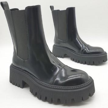 Кожаные ботинки BALENCIAGA  Tractor