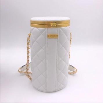 Сумка-цилиндр Chanel белая