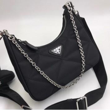 PRADA Сумка Prada Re Edition Bag  стеганная черная