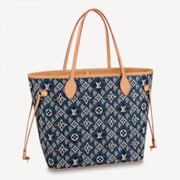 Сумка Louis Vuitton Neverfull синяя