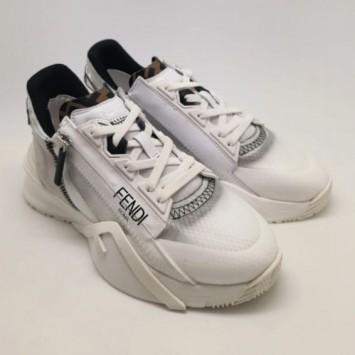 Кроссовки FENDI Flow белые