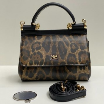 Сумка Dolce&Gabbana Small medium леопардовая
