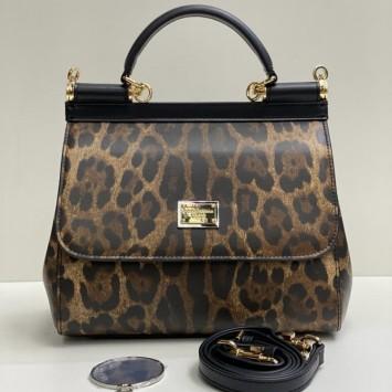 Сумка Dolce&Gabbana Sicily medium леопардовая