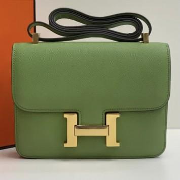 Сумка Hermes Constance зеленая