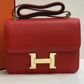 Сумка Hermes Constance красная
