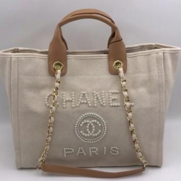 Сумка-тоут Chanel Deauville бежевый