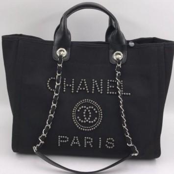 Сумка-тоут Chanel Deauville черная