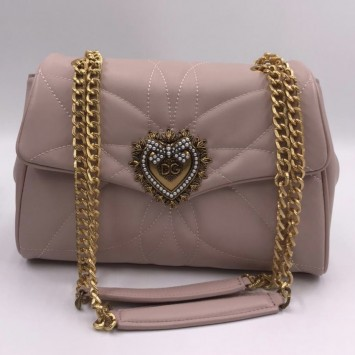 Сумка Dolce&Gabbana Devotion бледно-розовая