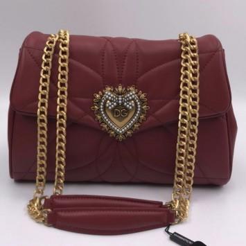 Сумка Dolce&Gabbana Devotion алая